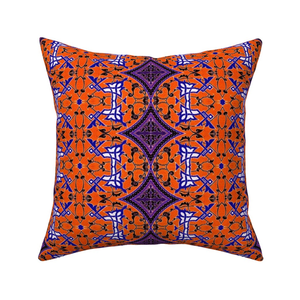 Catalan Throw Pillow featuring arabesque 185 by hypersphere