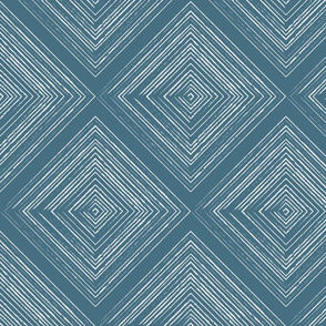 Modern Farmhouse Diamond Teal