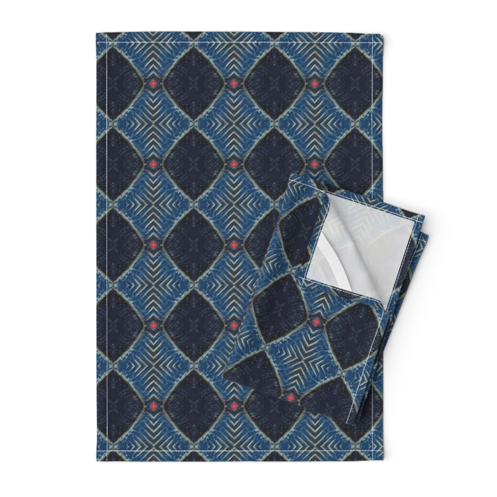 Orpington Tea Towels featuring Woodline | Geometric Texture by southwind