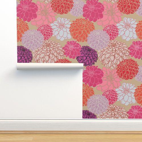CBRP 089 Papier de riz-Motif Paille soie-a4-Rétro-Flower Power-fleurs-Arrière-plan