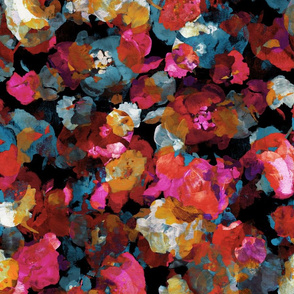 Abstract Floral Colorful