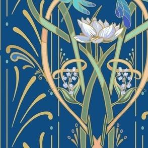 Art Nouveau Dragonflies Small | Classic Blue