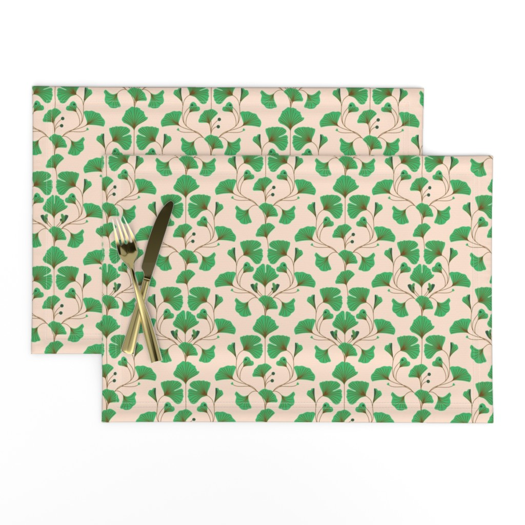 Lamona Cloth Placemats featuring ginkgo by annaboo