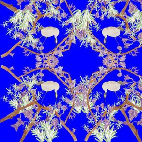 Bell birds blue
