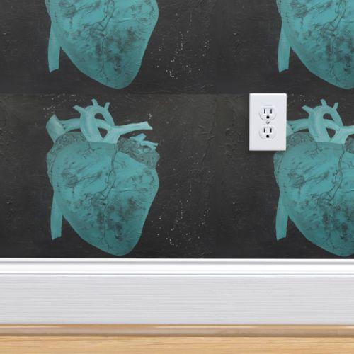 Wallpaper Anatomical Heart Serenity