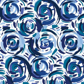 Abstract Circles Blue