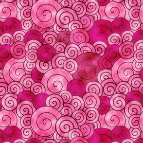 watercolored  swirls