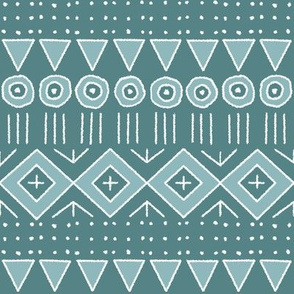 mudcloth style 2 in teal and turquoise