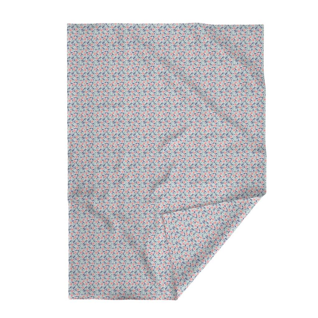 Lakenvelder Throw Blanket featuring Spring Harmony - Simple Modern Floral by ms_jenny_lemon