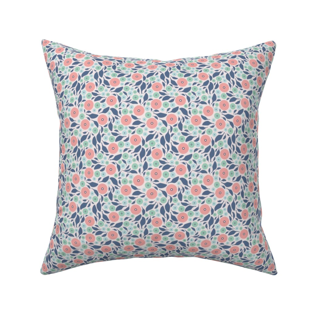 Catalan Throw Pillow featuring Spring Harmony - Simple Modern Floral by ms_jenny_lemon