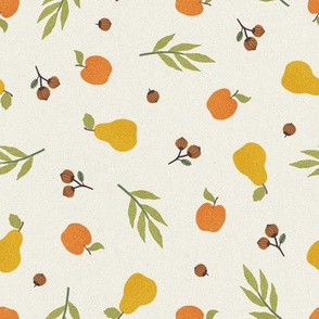Apples, pears and acorns