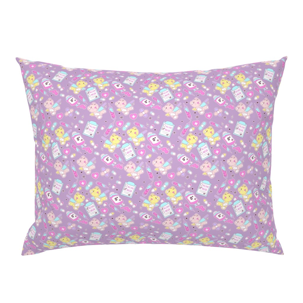 Campine Pillow Sham featuring Purple Creepy Cute Teddy Bears by FrostedSoSweet by noeldraws