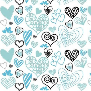 Blue Valentines Hearts