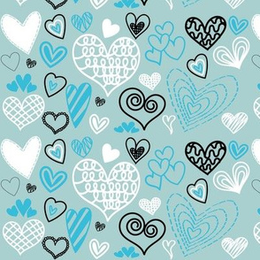 Mint Green Valentines hearts