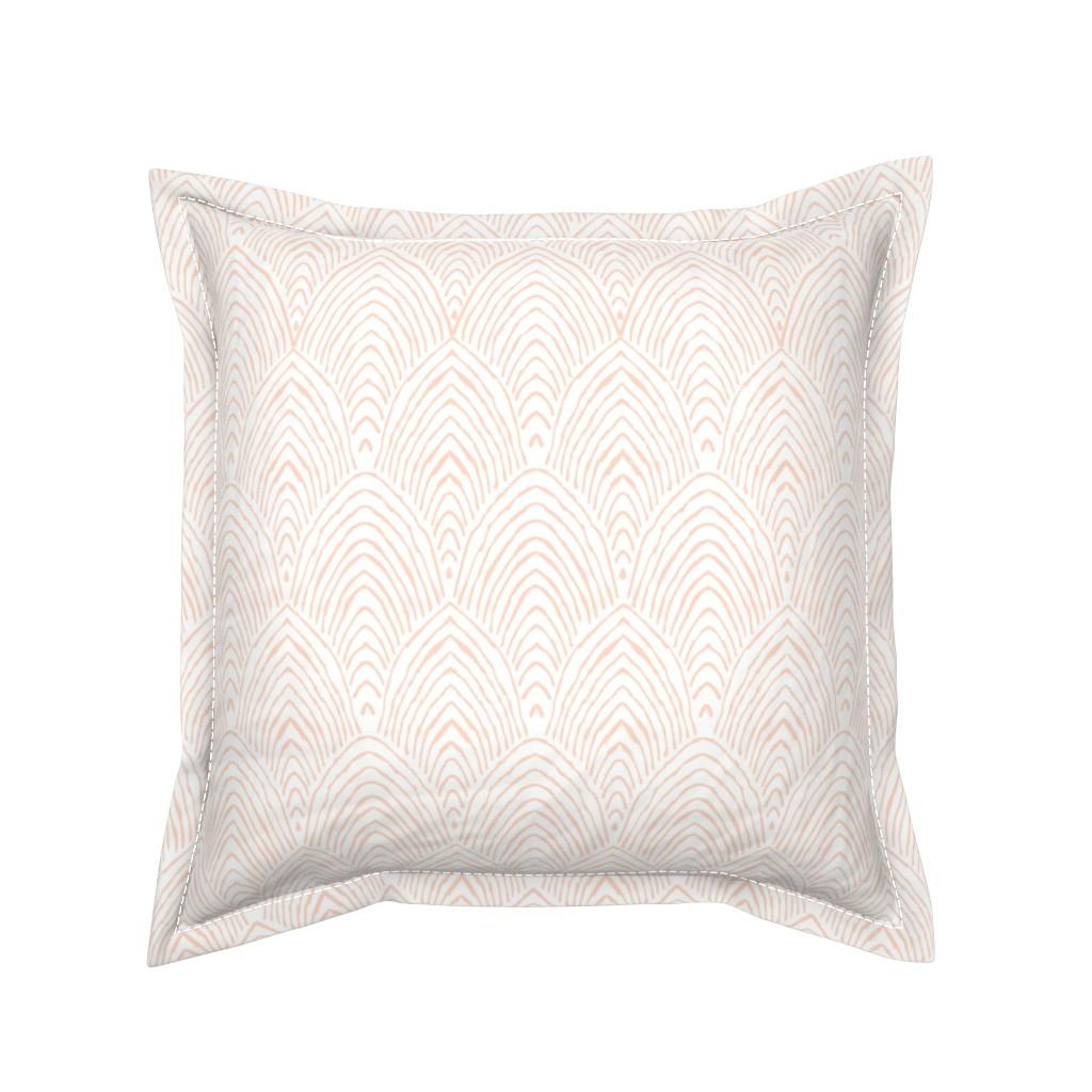 Serama Throw Pillow featuring prairie pink mountains by alison_janssen