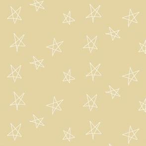 hand drawn stars - straw yellow
