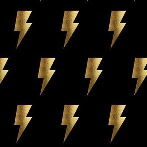 Gold Lightening bolt small scale, gold bolt, superhero