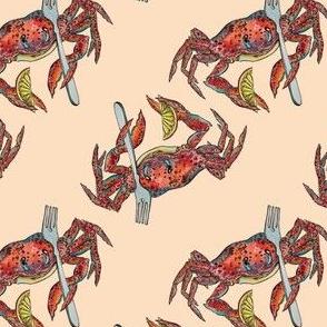 Dinner Crab on Cream by ArtfulFreddy