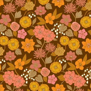 Botanical Blooms {Gold/Brown}