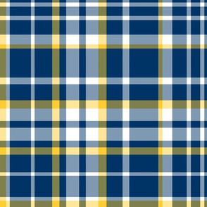 Abigail Anne: Navy, Yellow and White Plaid