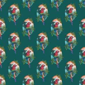 Macaw on Green by ArtfulFreddy