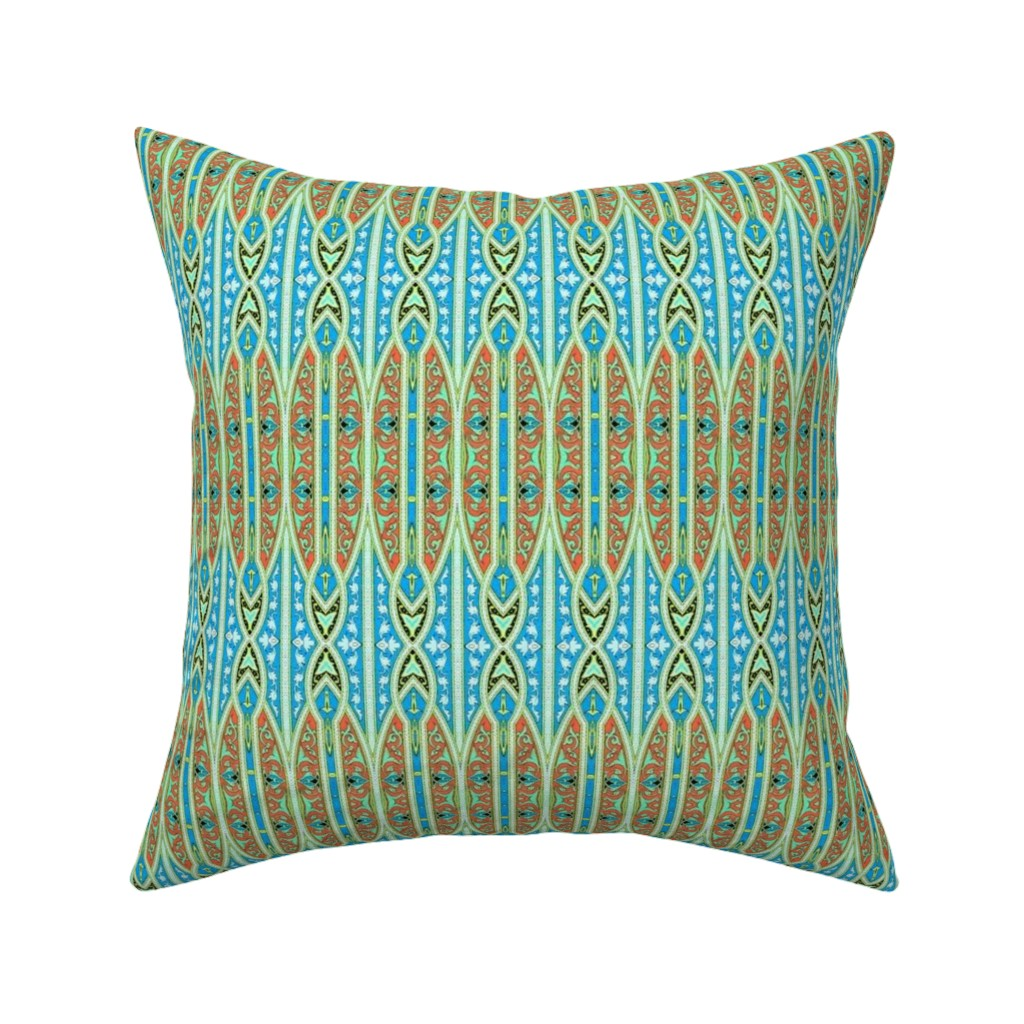 Catalan Throw Pillow featuring arabesque 193 by hypersphere
