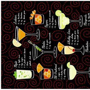 Classic Cocktail Tea Towel