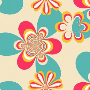 sixties floral