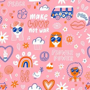 60's hippie pattern