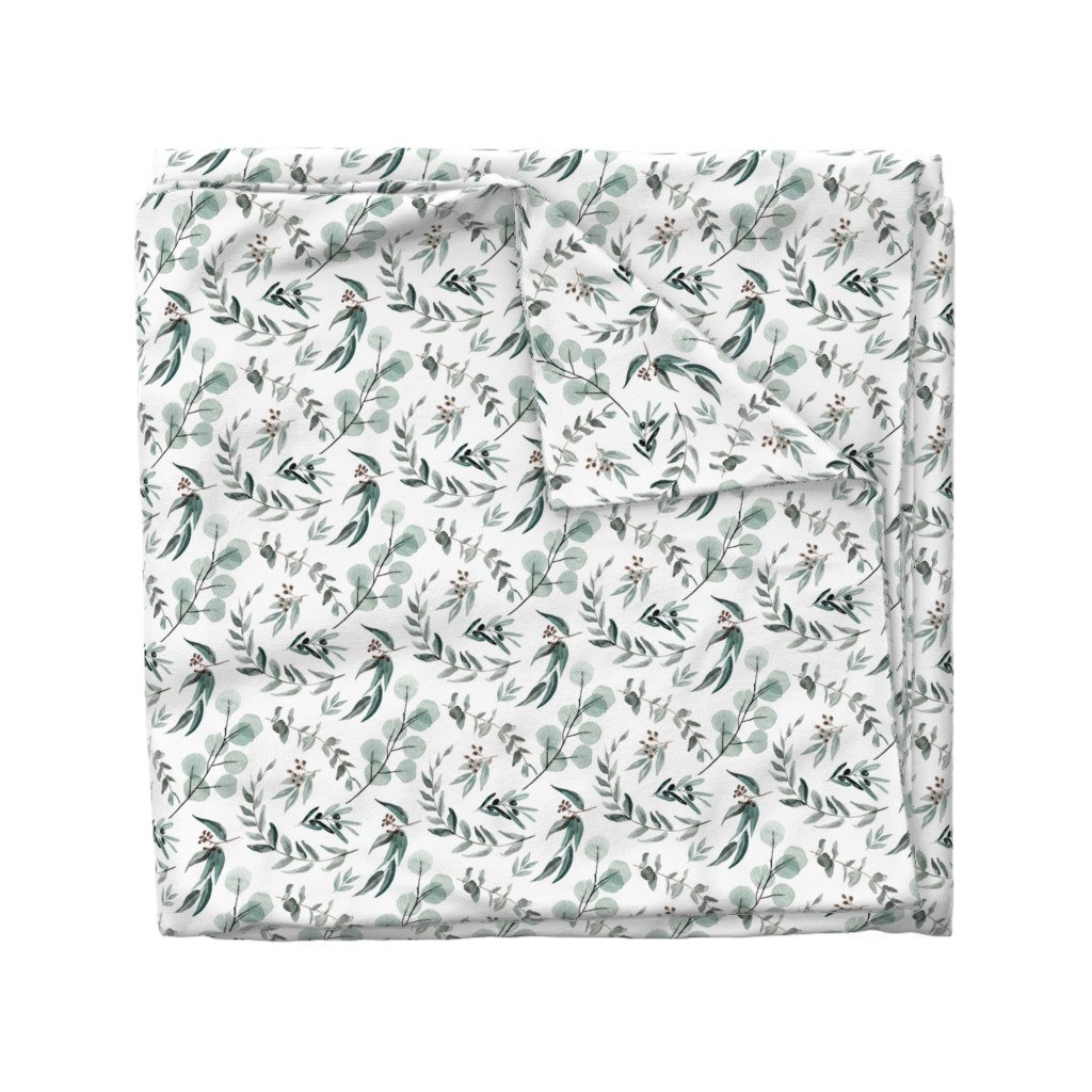 Wyandotte Duvet Cover featuring Edition 1 DARKER Eucalyptus Leaves Nature Prints Greenery Outdoors by erin__kendal