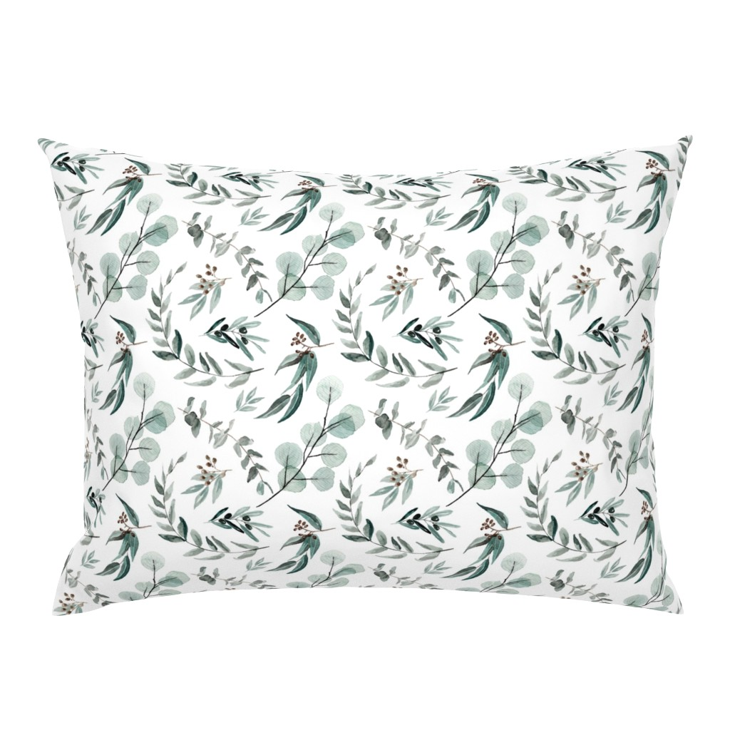 Campine Pillow Sham featuring Edition 1 DARKER Eucalyptus Leaves Nature Prints Greenery Outdoors by erin__kendal