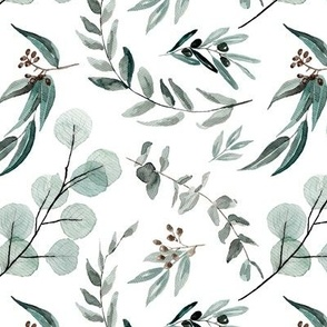 Edition 1 DARKER Eucalyptus Leaves Nature Prints Greenery Outdoors