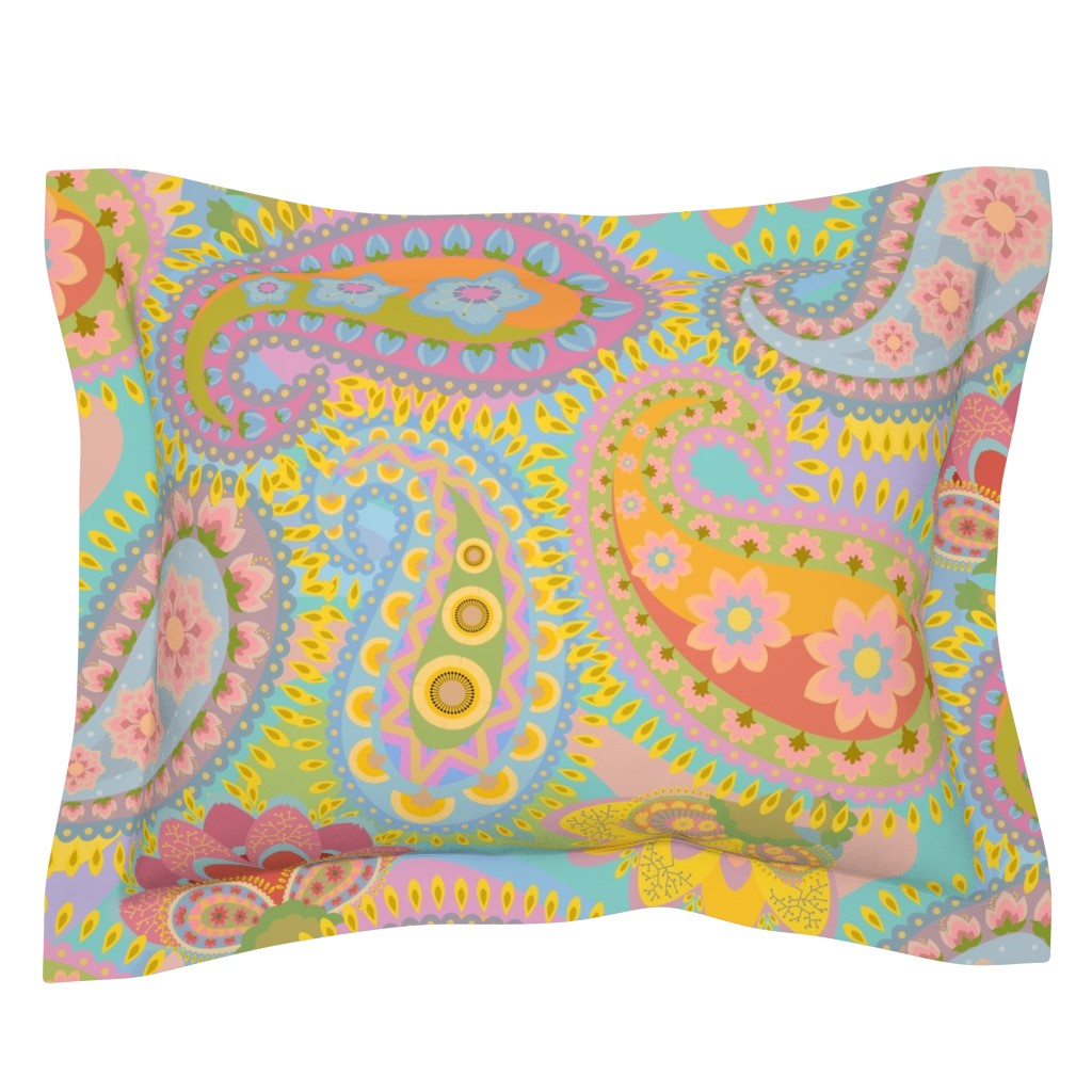 Sebright Pillow Sham featuring The 1960s Revisited by elizabeth_chia
