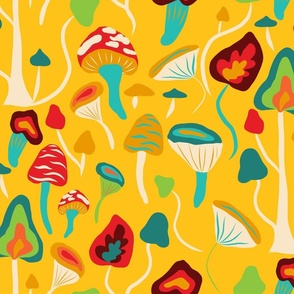 psychedelic mushrooms forest mustard yellow-02-01