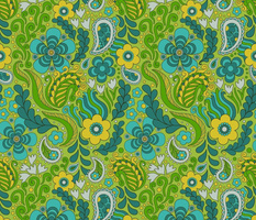 Groovy Floral Green