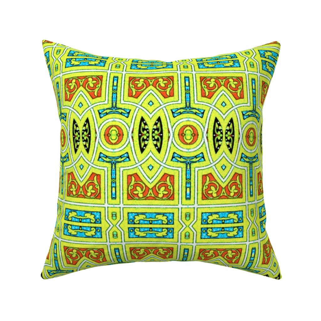 Catalan Throw Pillow featuring arabesque 198 by hypersphere