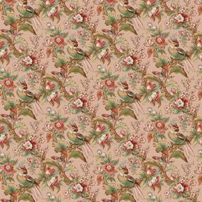Edwardian Parrot ~ Dogwood Dream on Elizabeth ~ Wee