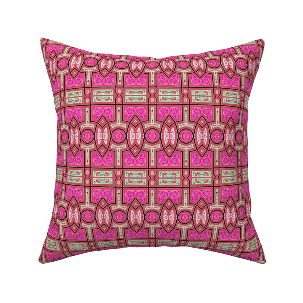 Catalan Throw Pillow featuring arabesque 201 by hypersphere