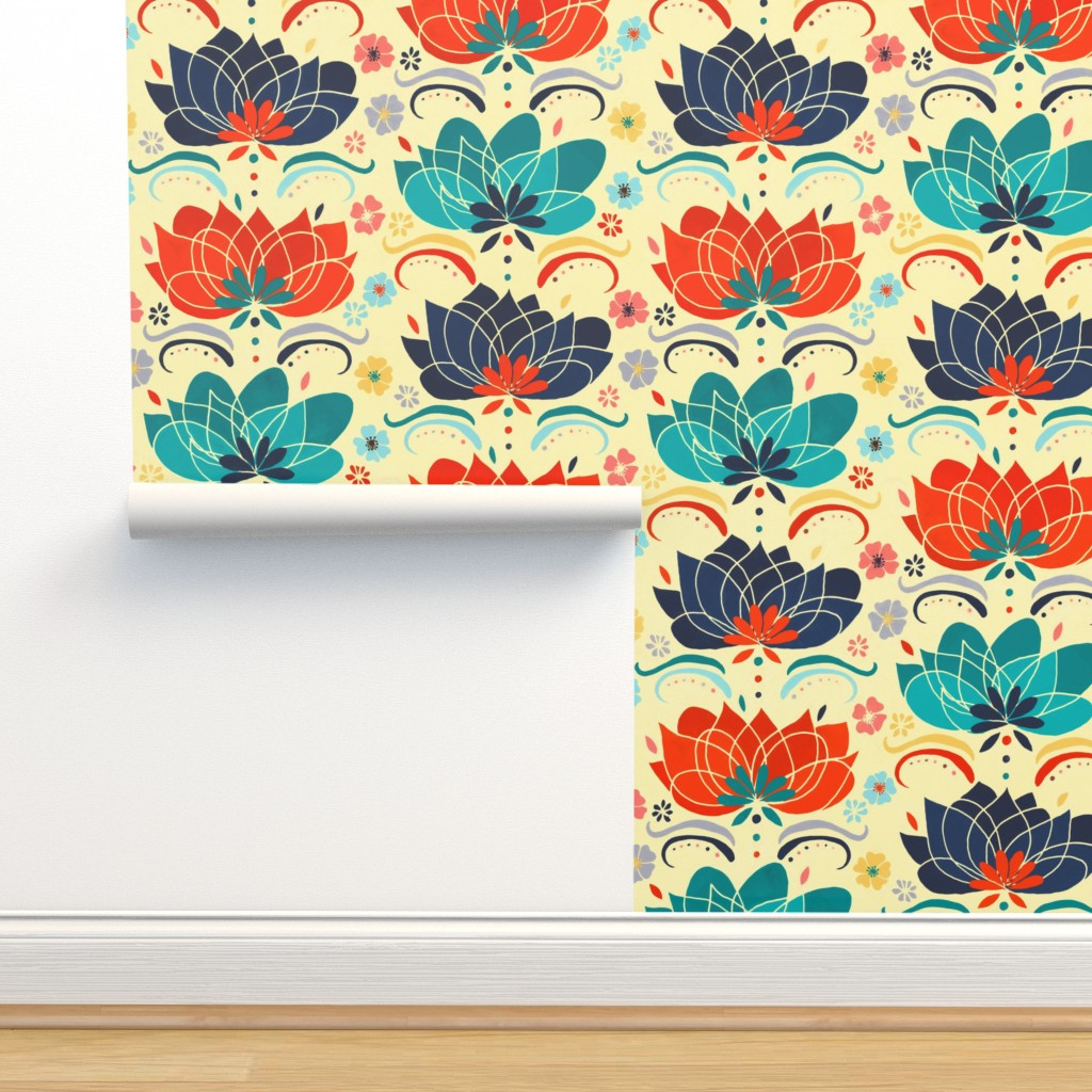 60s Hippie Floral Large On Isobar By Tigatiga Roostery Home Decor