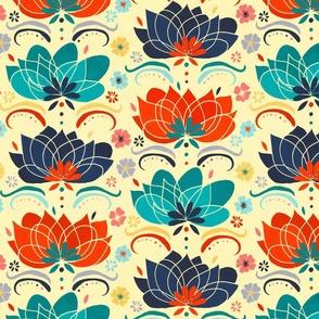 60s Hippie Floral - Large