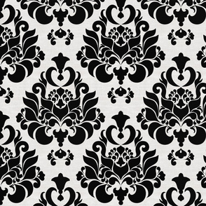 damask { black & white }