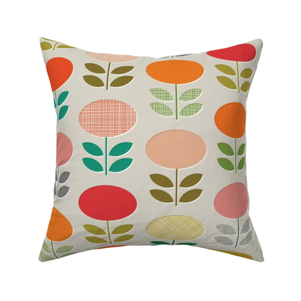 Catalan Throw Pillow featuring MOD POSIES by katerhees