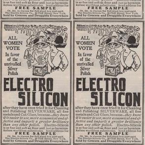 1910 Suffragette theme Silver Polish ad