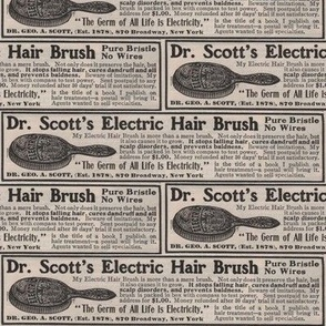 Dr Scott's Electric Hair Brush 1910 ad