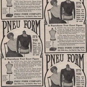 1910 Dress Form Advertisement