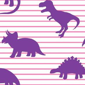 Dino Pink Stripe Purple