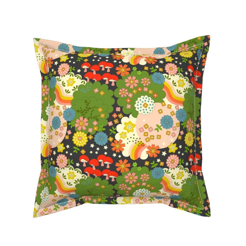 Serama Throw Pillow featuring Cosmic Flowering  by morecandyshop