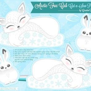 Cut N Sew Baby Arctic Fox Cub
