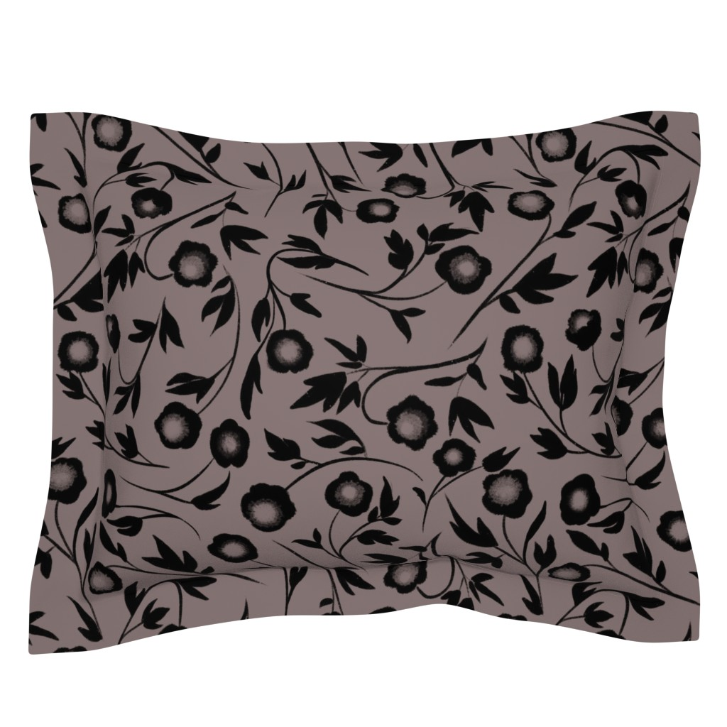 Sebright Pillow Sham featuring Peonias by karina_love
