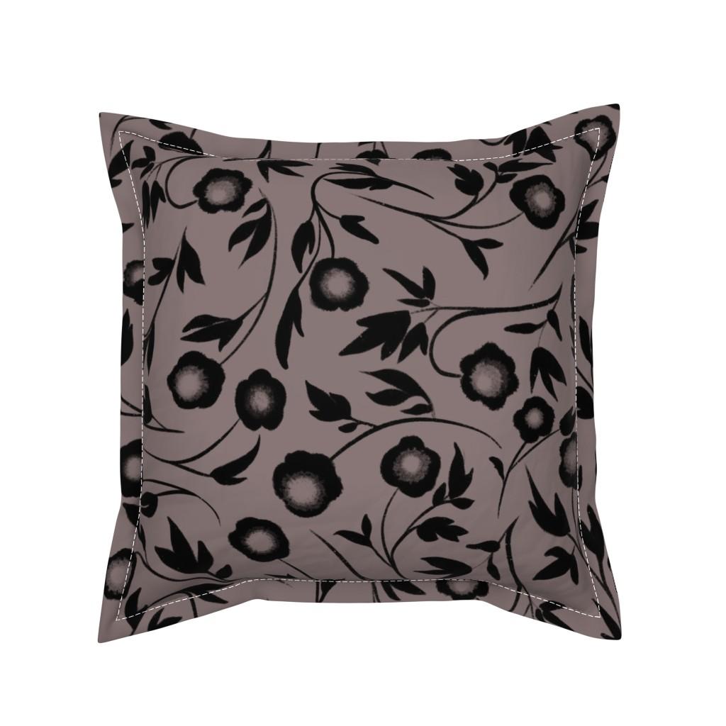 Serama Throw Pillow featuring Peonias by karina_love